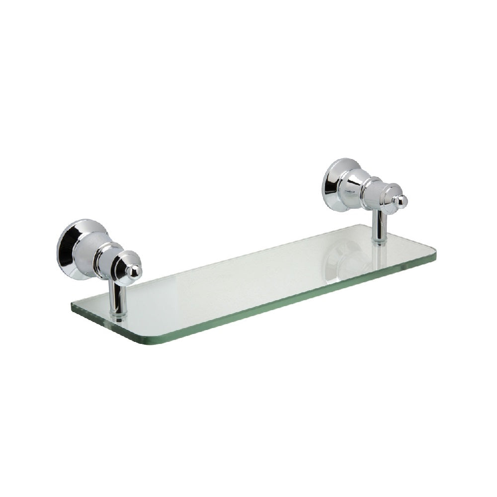 Fienza Lillian Glass Shelf Chrome (4358690734140)