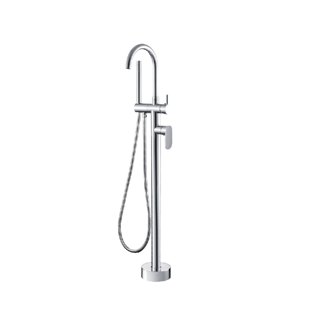 Fienza Empire Floor Standing Bath Mixer with Shower Head Chrome (4358676054076)