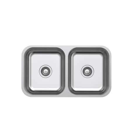 Argent Tempo Kitchen Sink Double Main Bowl with No Tap Hole - Stainless Steel (4358678380604)
