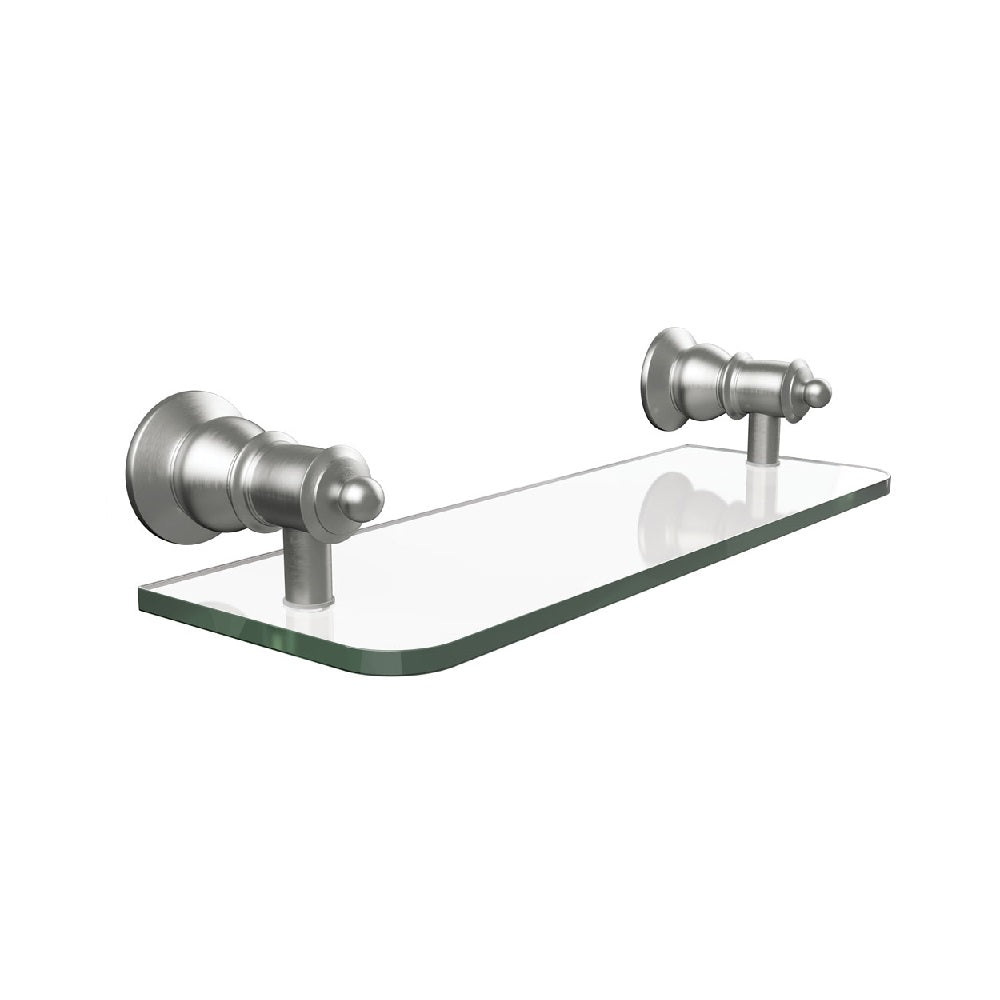Fienza Lillian Glass Shelf Brushed Nickel (4358690373692)