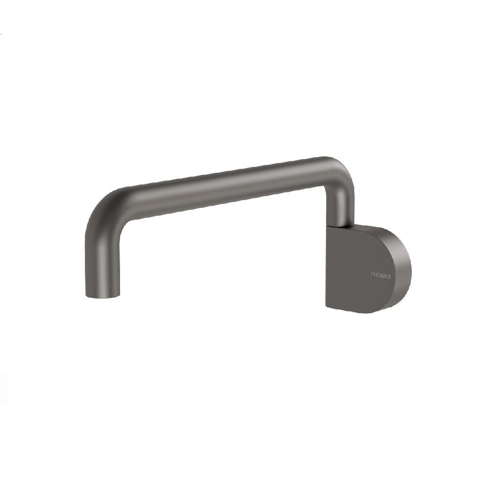 Phoenix Designer Swivel Bath Outlet 230mm Round Gun Metal (4358682476604)