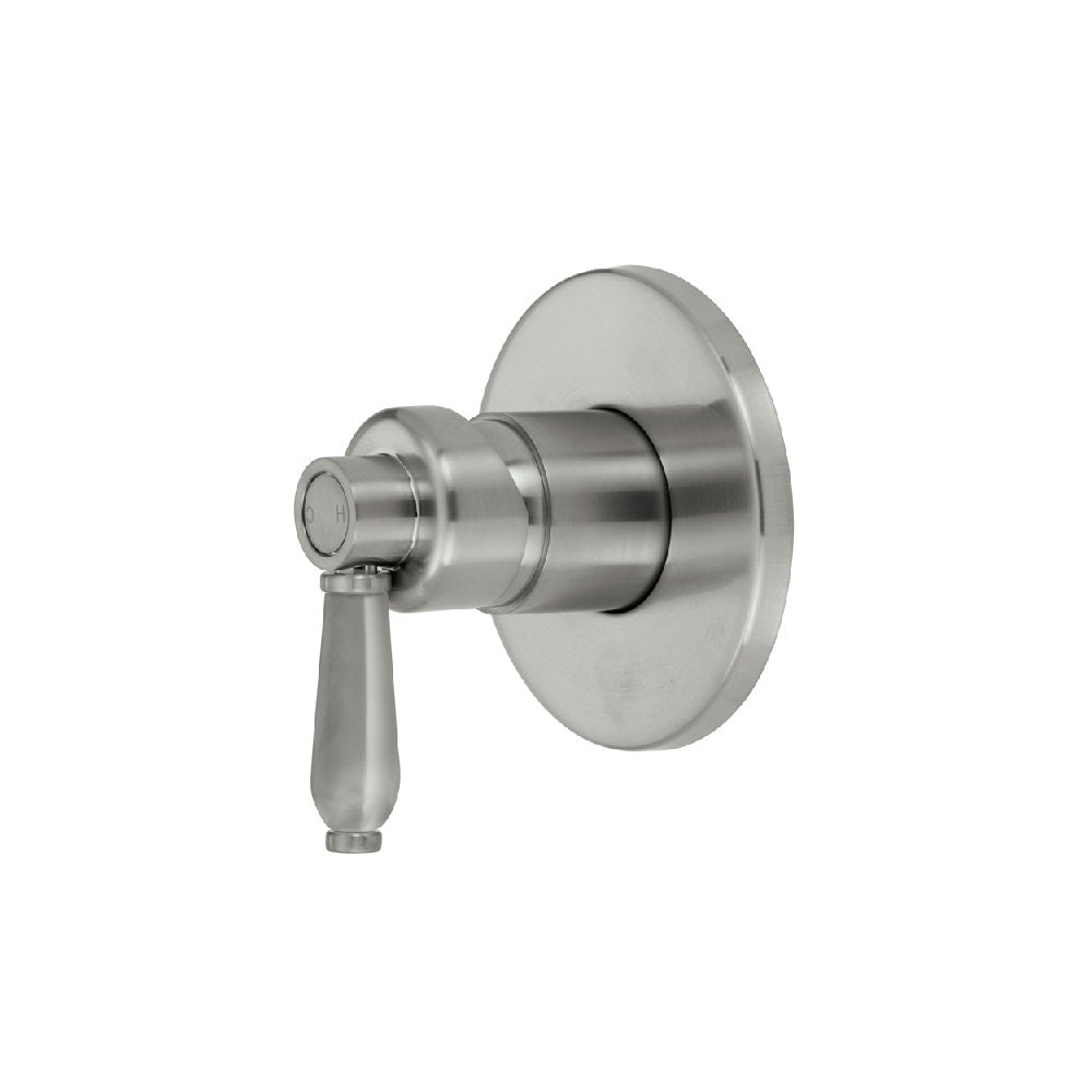Fienza Eleanor Wall Shower Mixer Brushed Nickel with Brushed Nickel handle (4358688276540)