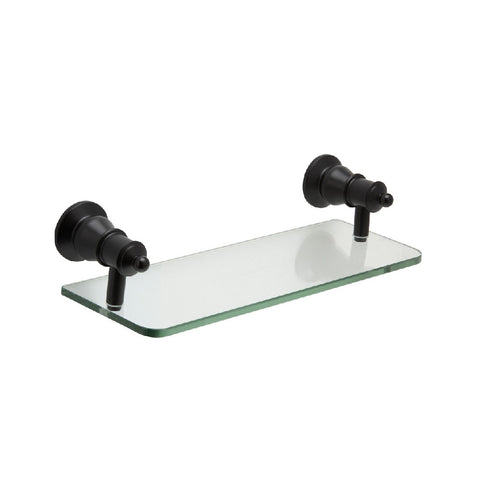 Fienza Lillian Glass Shelf Matte Black (4358691127356)