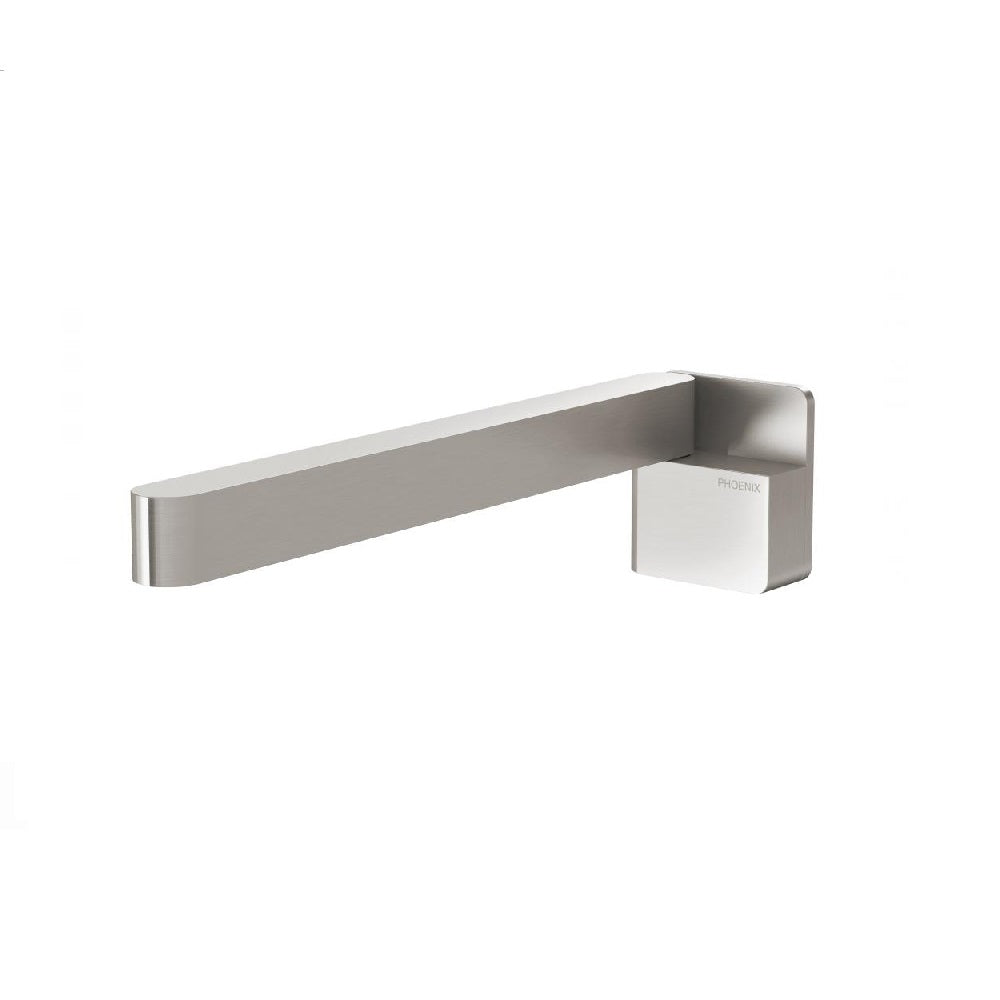 Phoenix Designer Swivel Bath Outlet 230mm Square Brushed Nickel (4358682705980)
