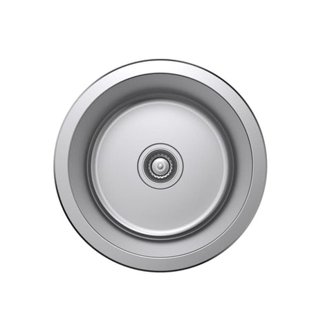 Argent Tempo Kitchen Sink Round Bowl 20L with No Tap hole- Stainless Steel