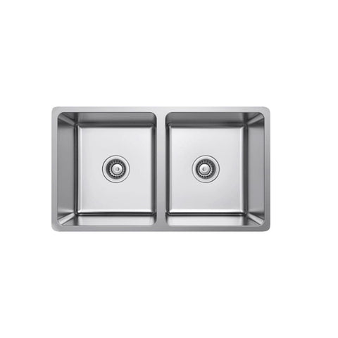 Argent Verve Kitchen Sink Double Main Bowl with No Tap Hole - Stainless Steel (4358678315068)