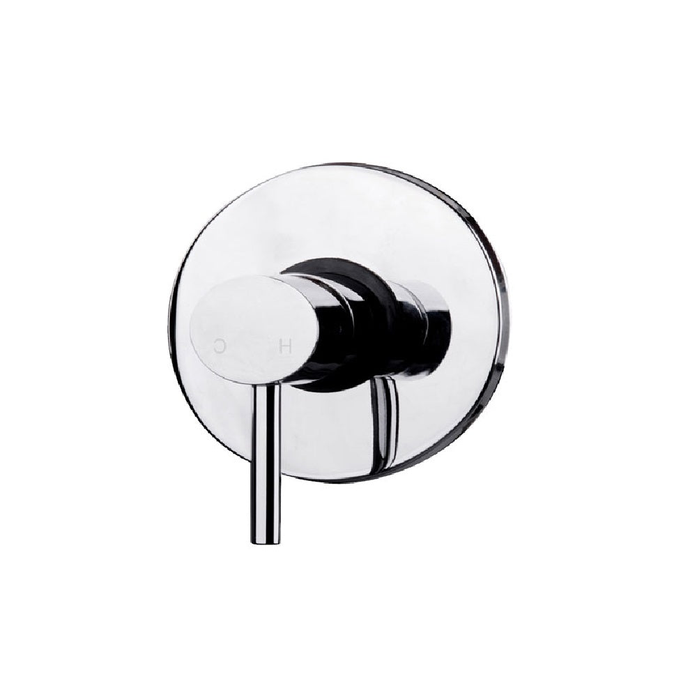 Fienza Ovalie Wall Shower/ Bath Mixer Chrome (4358677135420)