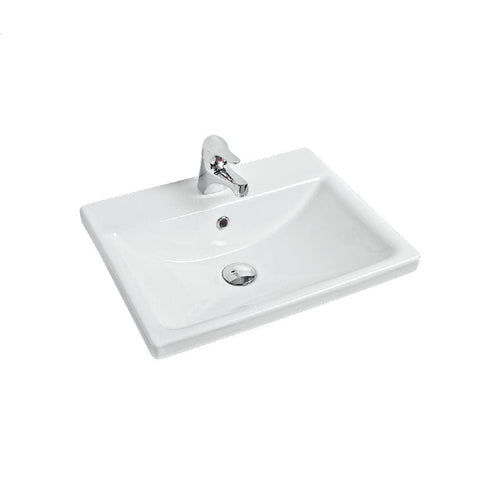 Argent Zen Drop in Basin 3 Tap Hole White