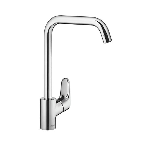 Hansgrohe Ecos L Square Gooseneck Sink Mixer Chrome (4358687064124)