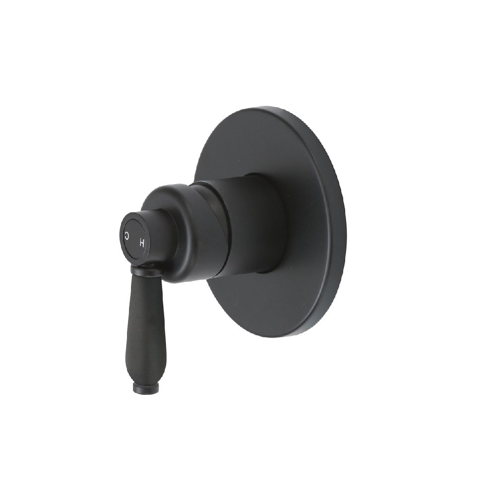 Fienza Eleanor Wall Shower Mixer Matte Black with Matte Black handle (4358688866364)
