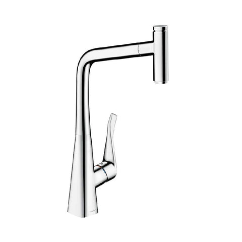 Hansgrohe Metris Select 320 Pull Out Sink Mixer Chrome (4358686801980)