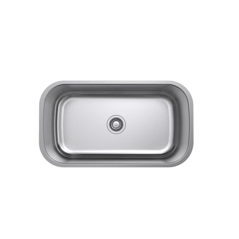 Argent Tempo Kitchen Sink Mega Bowl 74L with No Tap Hole- Stainless Steel (4358678544444)