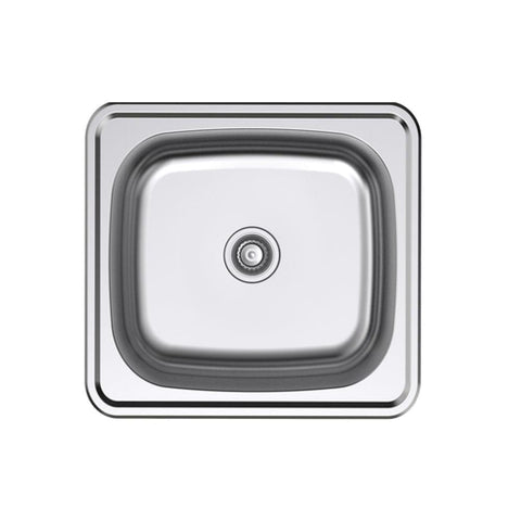 Argent Format Laundry Tub 30L with 2 Tap Holes - Stainless Steel