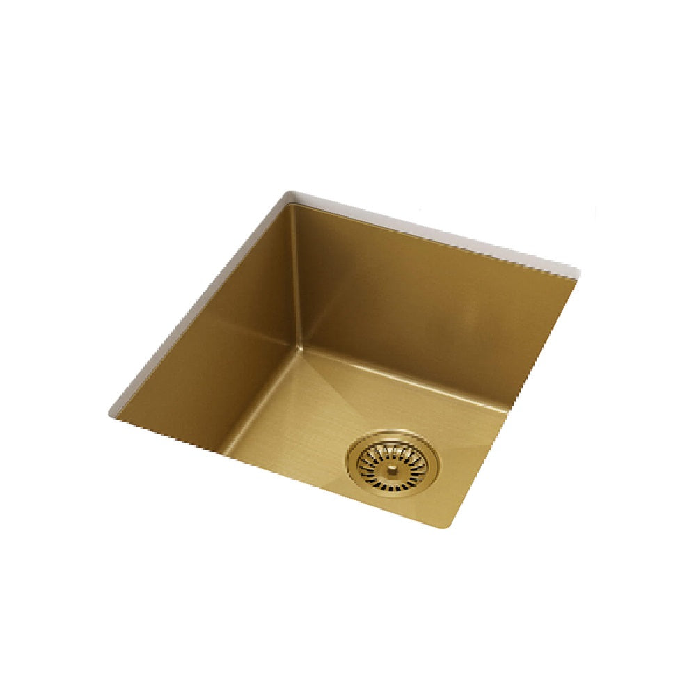 Meir Single Bowl PVD Kitchen Sink 380mm Brushed Bronze Gold (4414611128380)
