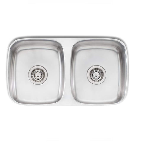 Oliveri Endeavour Sink 750 x 455 Double Bowl Stainless Steel (4358685229116)