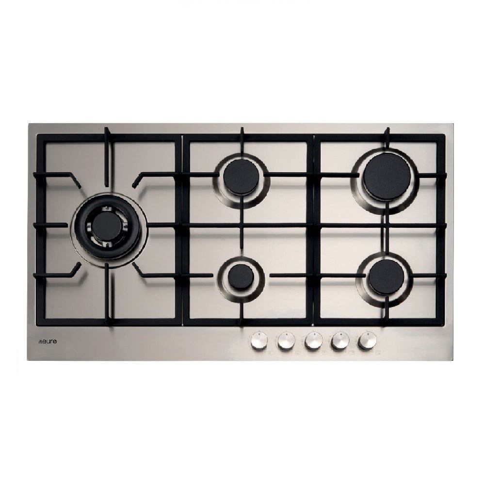 Euro Cooktop Gas 900mm Stainless Steel E90CTWX (4426596483132)
