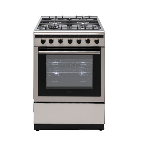 Euro Oven Freestanding 600mm Dual Fuel Stainless Steel EV600DFSX (4426596581436)