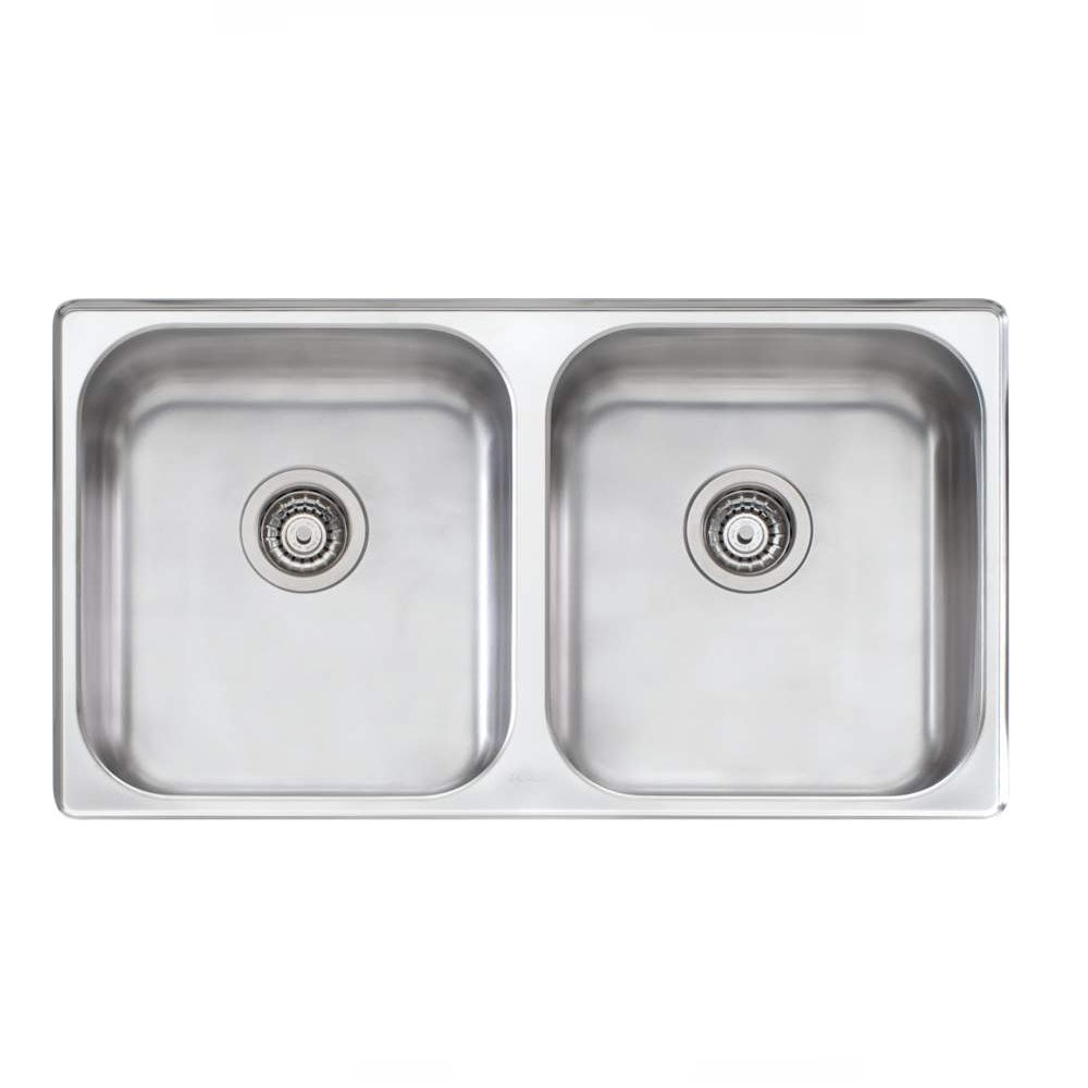 Oliveri Nu Petite Sink 890 x 515 Double Bowl Undermount Stainess Steel (4358684737596)