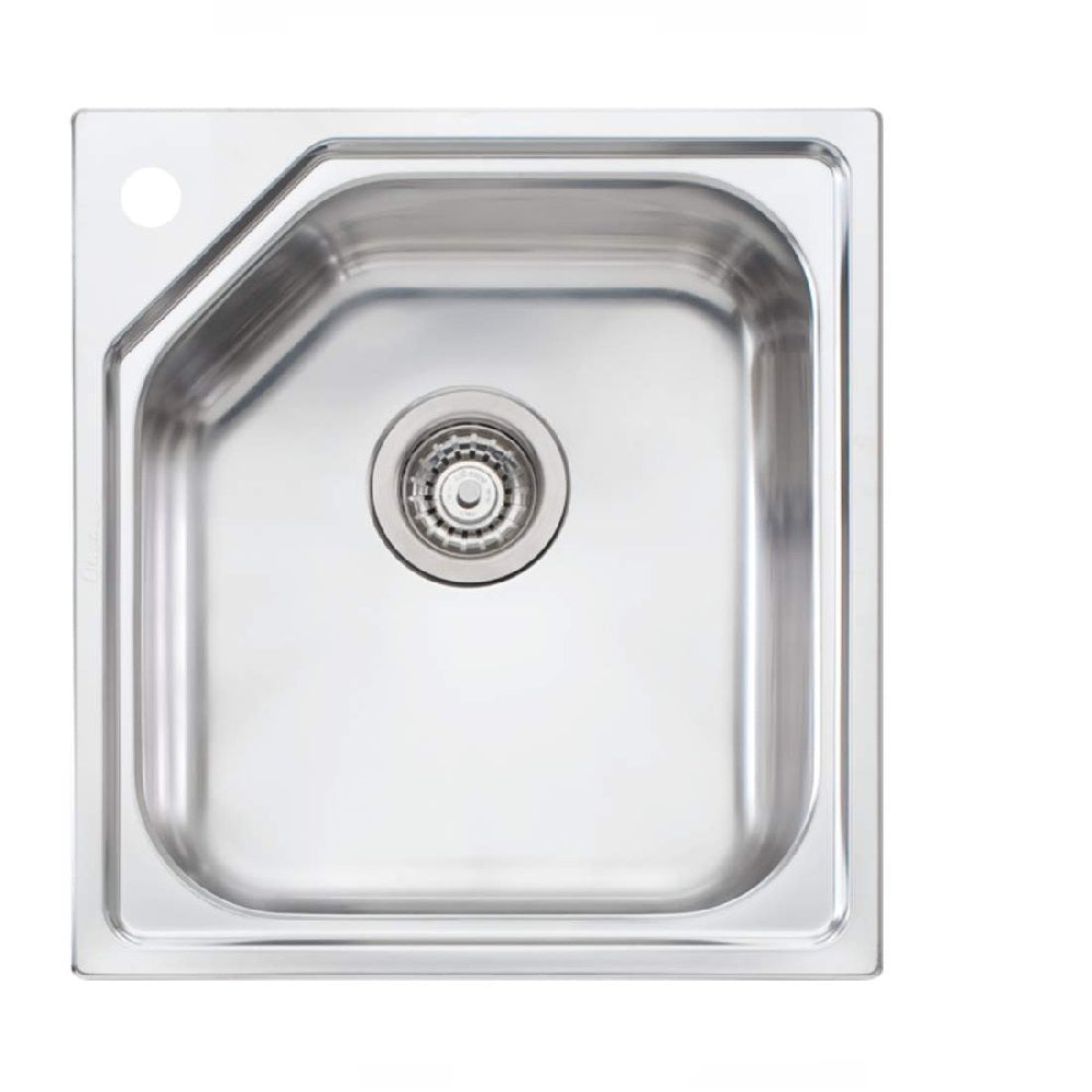 Oliveri Nu Petite Sink 460 x 500 Single Bowl Undermount 1 Tap Hole Stainess Steel (4358684770364)