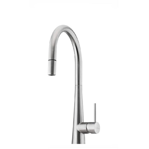 Oliveri Essente Gooseneck Pull Out Sink Mixer Stainless Steel (4358686146620)