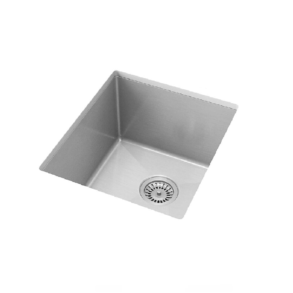 Meir Single Bowl PVD Kitchen Sink 380mm Brushed Nickel (4414611062844)