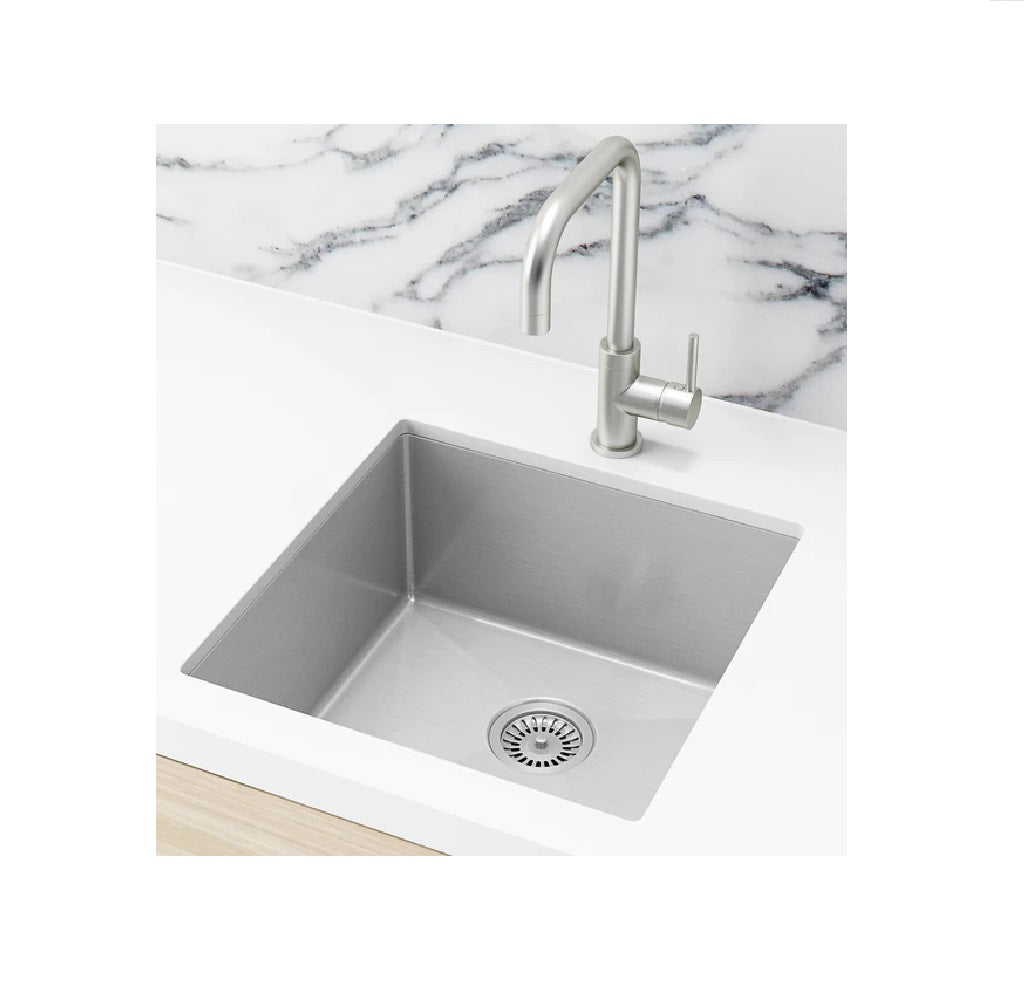 Meir Single Bowl PVD Kitchen Sink 450mm Brushed Nickel (4414611161148)