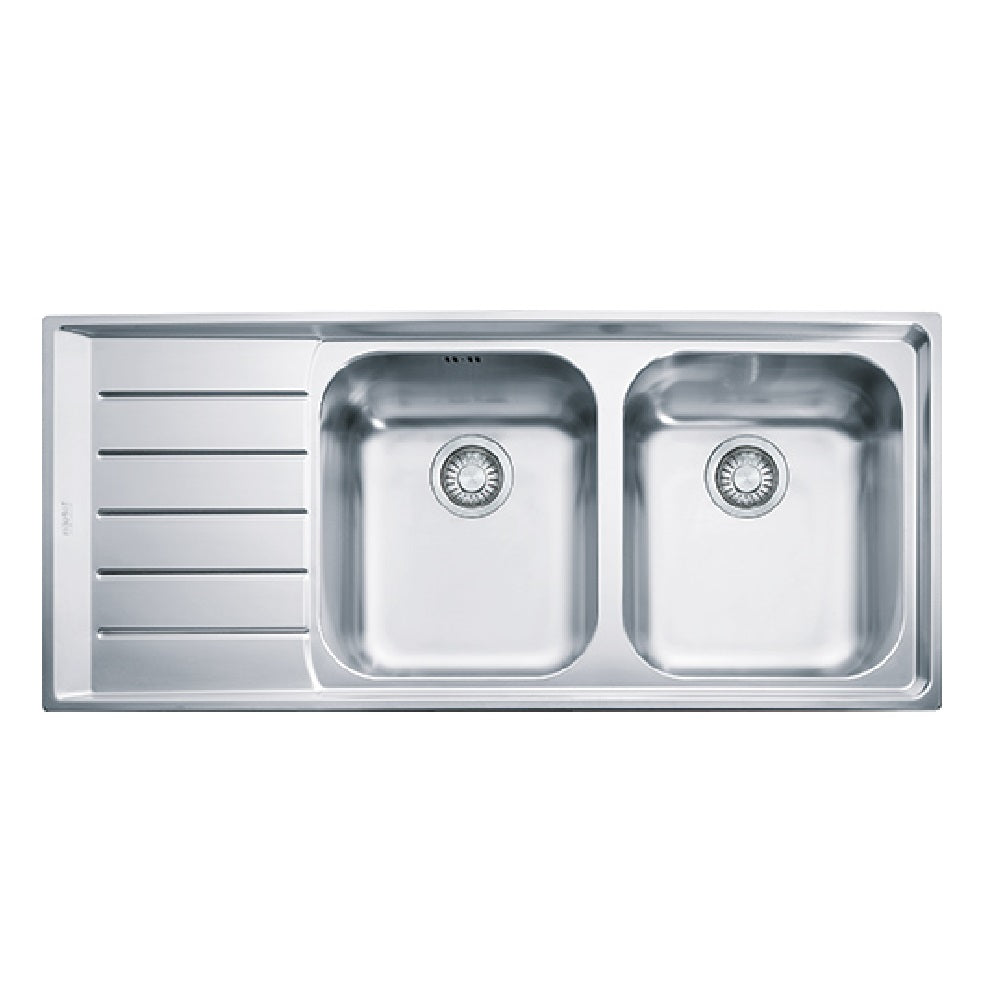 Franke Sink Neptune Double Bowl Left Hand Drainer- Stainless Steel- NEX621LHD (4429427376188)
