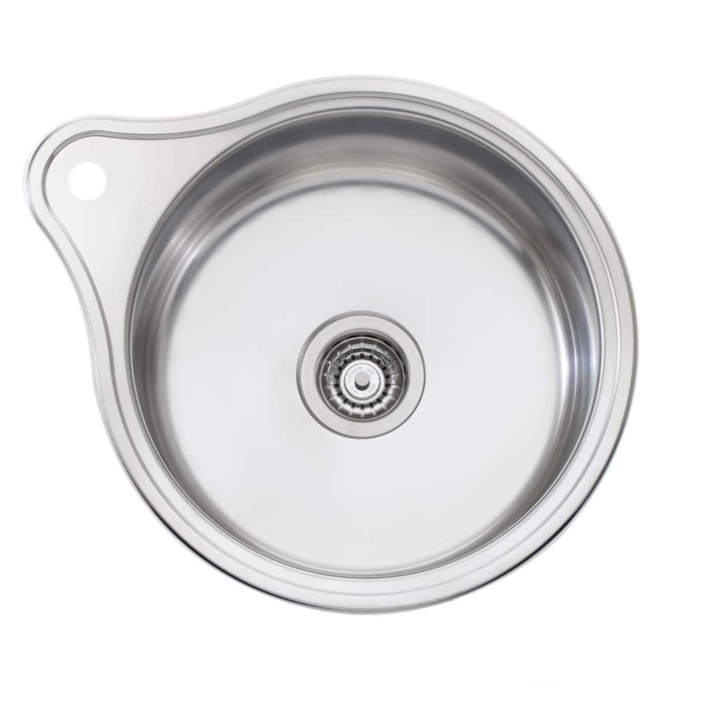 Oliveri Solitaire Sink 490 x 490 Single Bowl 1 Tap Hole Stainless Steel (4358684999740)
