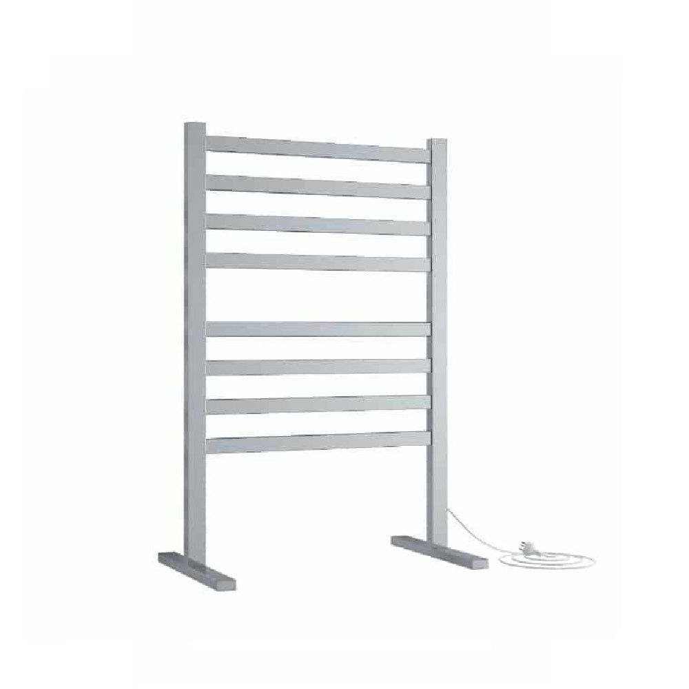 Thermogroup Heated Towel Rail Freestanding Square 590mm W x 900mm H - Chrome (4358680739900)