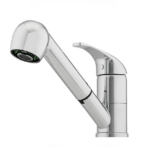 Oliveri Essentials Pull Out Spray Sink Mixer Chrome (4358686572604)