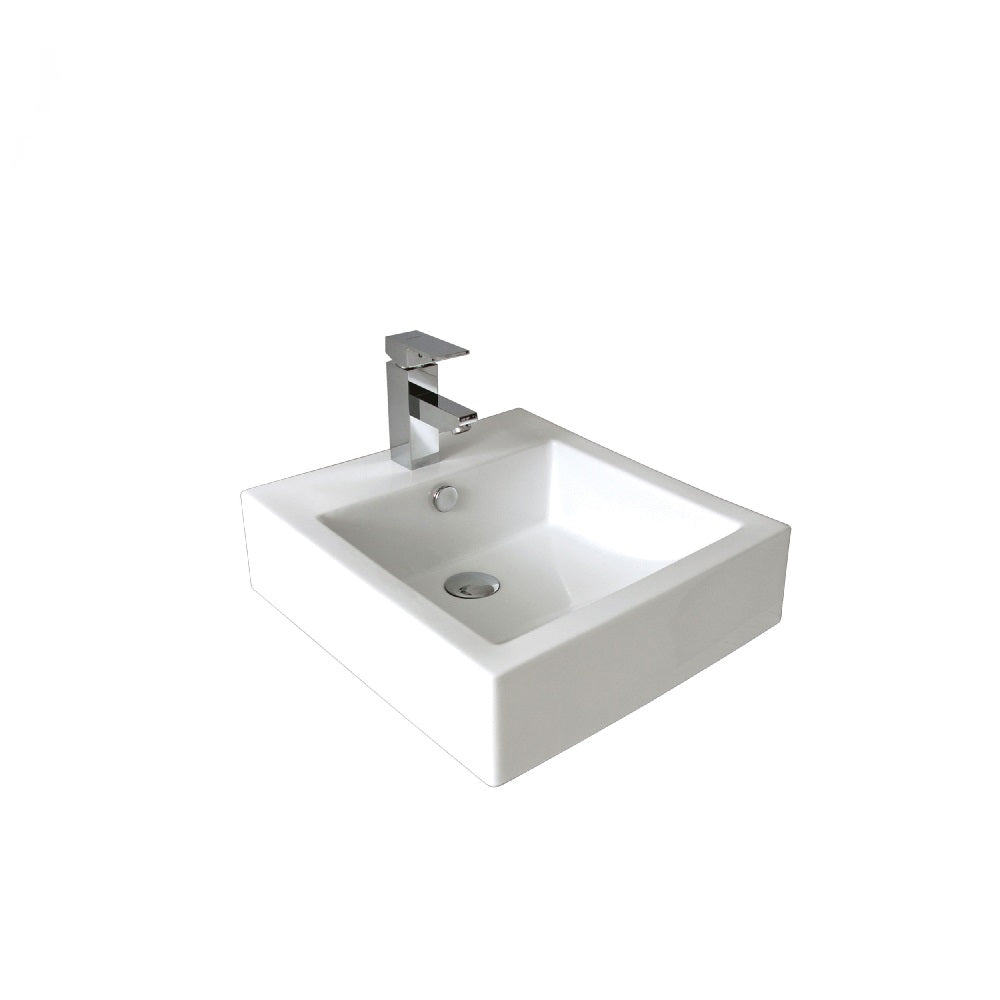 Seima Kyra 010 Basin Above White with OverflowOne Taphole 191437 (4438188195900)