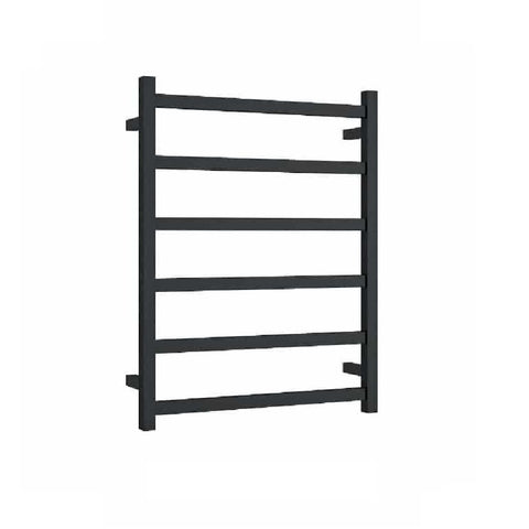 Thermogroup Heated Towel Rail Square 600mm W x 800mm H- Matte Black (4358680051772)