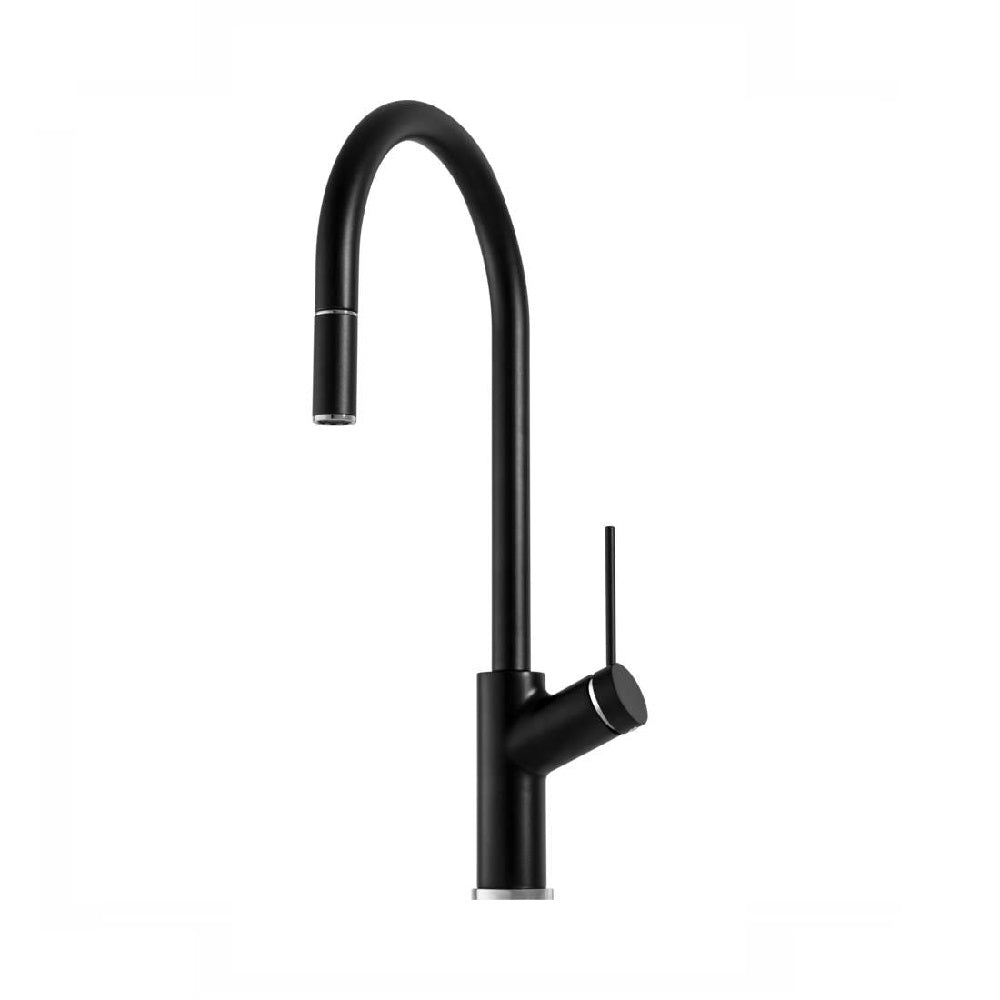 Oliveri Vilo Sink Mixer with Pull Out Matte Black (4358685622332)