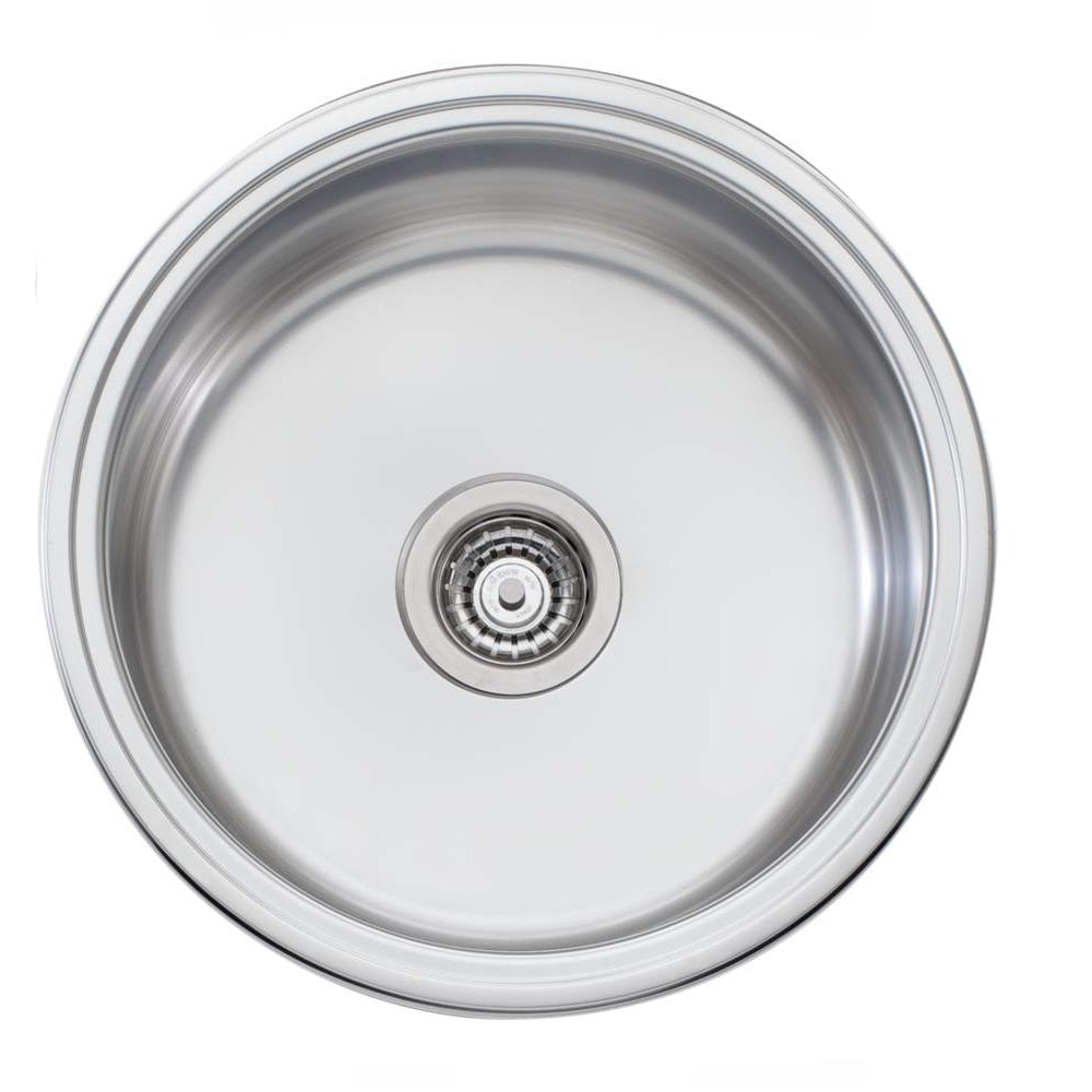 Oliveri Solitaire Sink 490 x 490 Single Bowl Stainless Steel (4358685032508)