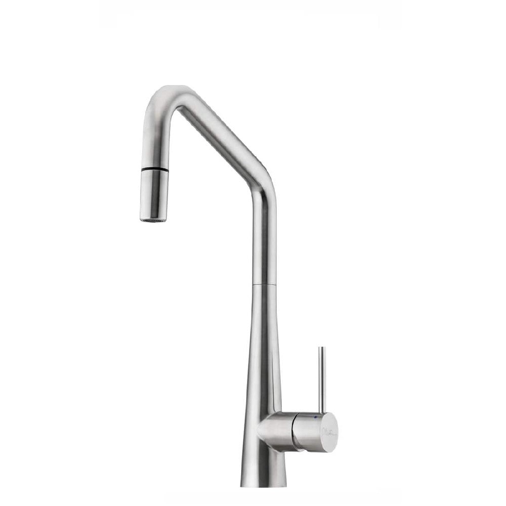 Oliveri Essente Square Gooseneck Pull Out Sink Mixer Stainless Steel (4358686081084)