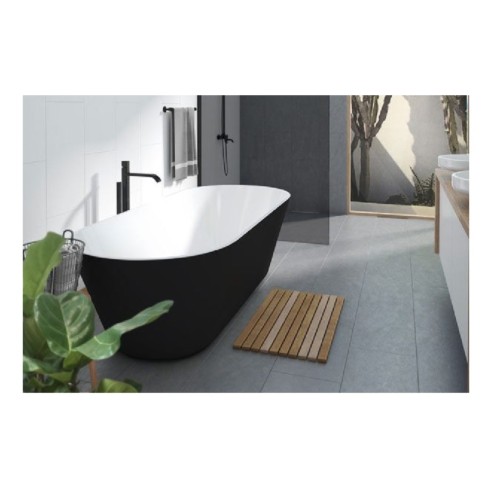 Decina Elinea 1700mm Freestanding Bath Black/ White EN1780B (4445922426940)