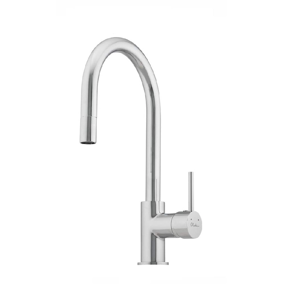 Oliveri Essentials Pull Out Gooseneck Sink Mixer Chrome (4358686343228)