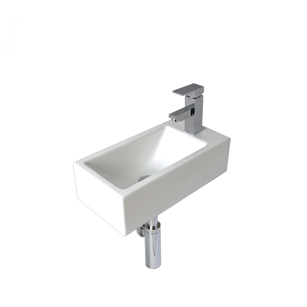 Seima Plati 514 Basin Wall 500 White with Overflow One Taphole 191492 (4438189834300)