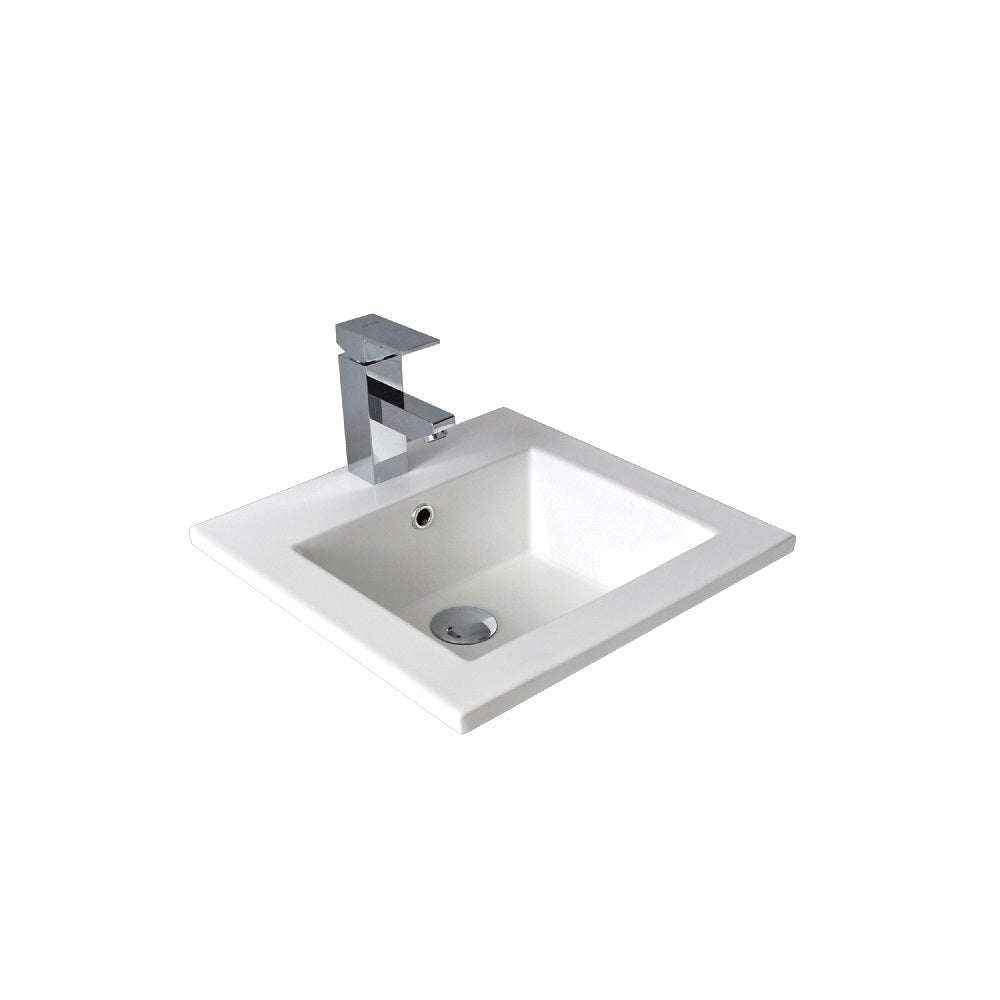 Seima Kyra 208 Basin Inset White with OverflowOne Taphole 191476 (4438188654652)