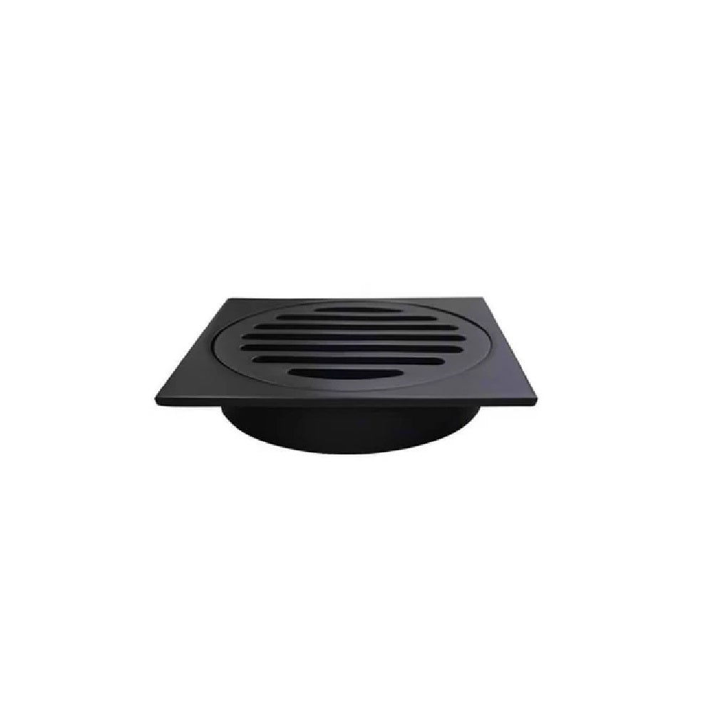 Meir Floor Grate 100mm MP06-100 Matte Black (4466420678716)