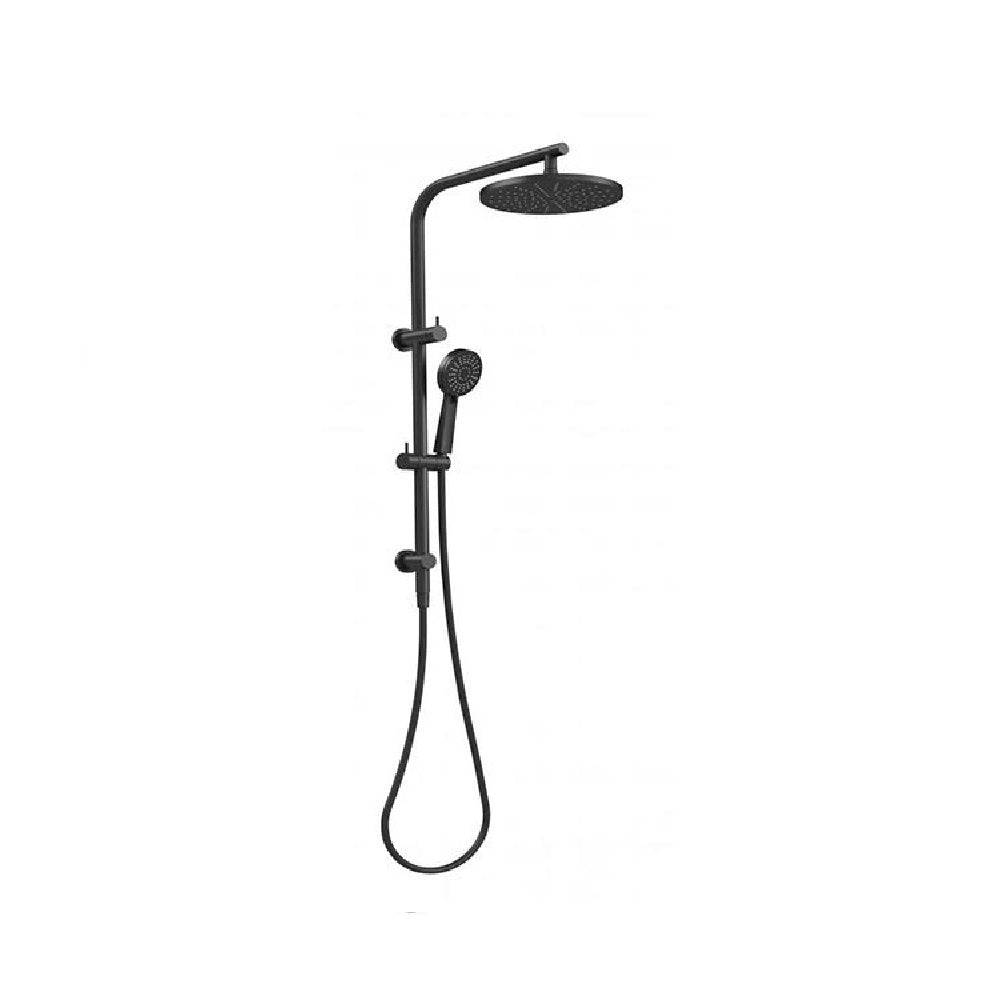 Phoenix Vivid Slimline Twin Shower Matte Black (4469839069244)