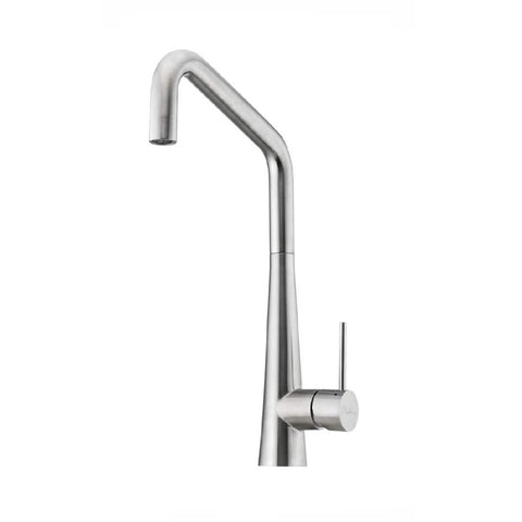 Oliveri Essente Square Gooseneck Sink Mixer Stainless Steel (4358686244924)