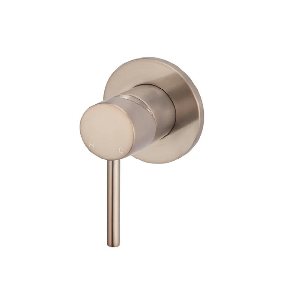 Meir Wall Shower Mixer MW03-CH Champagne (4466422972476)
