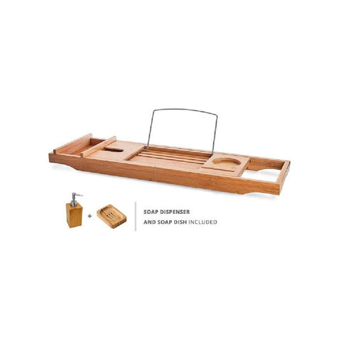 Decina Luxury Bamboo Bath Caddy (Inc. Soap Dish And Dispenser) BC001 (4445922525244)