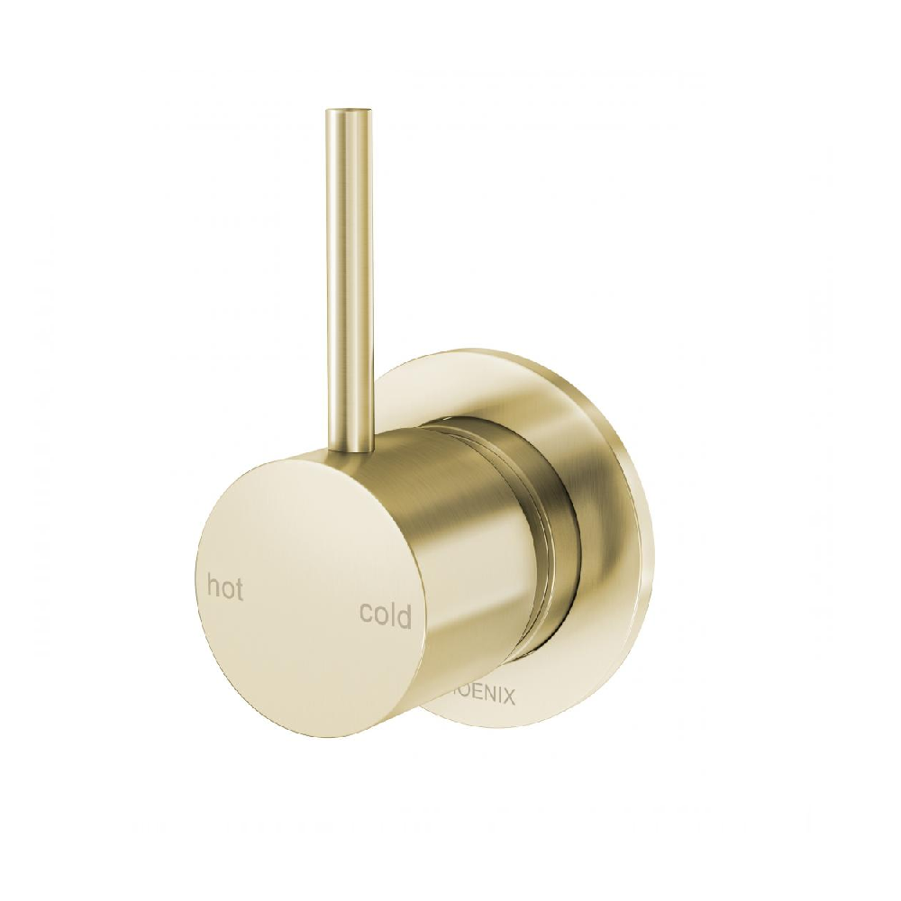 Phoenix Vivid Slimline Up Shower/ Wall Mixer Brushed Gold (4414610505788)