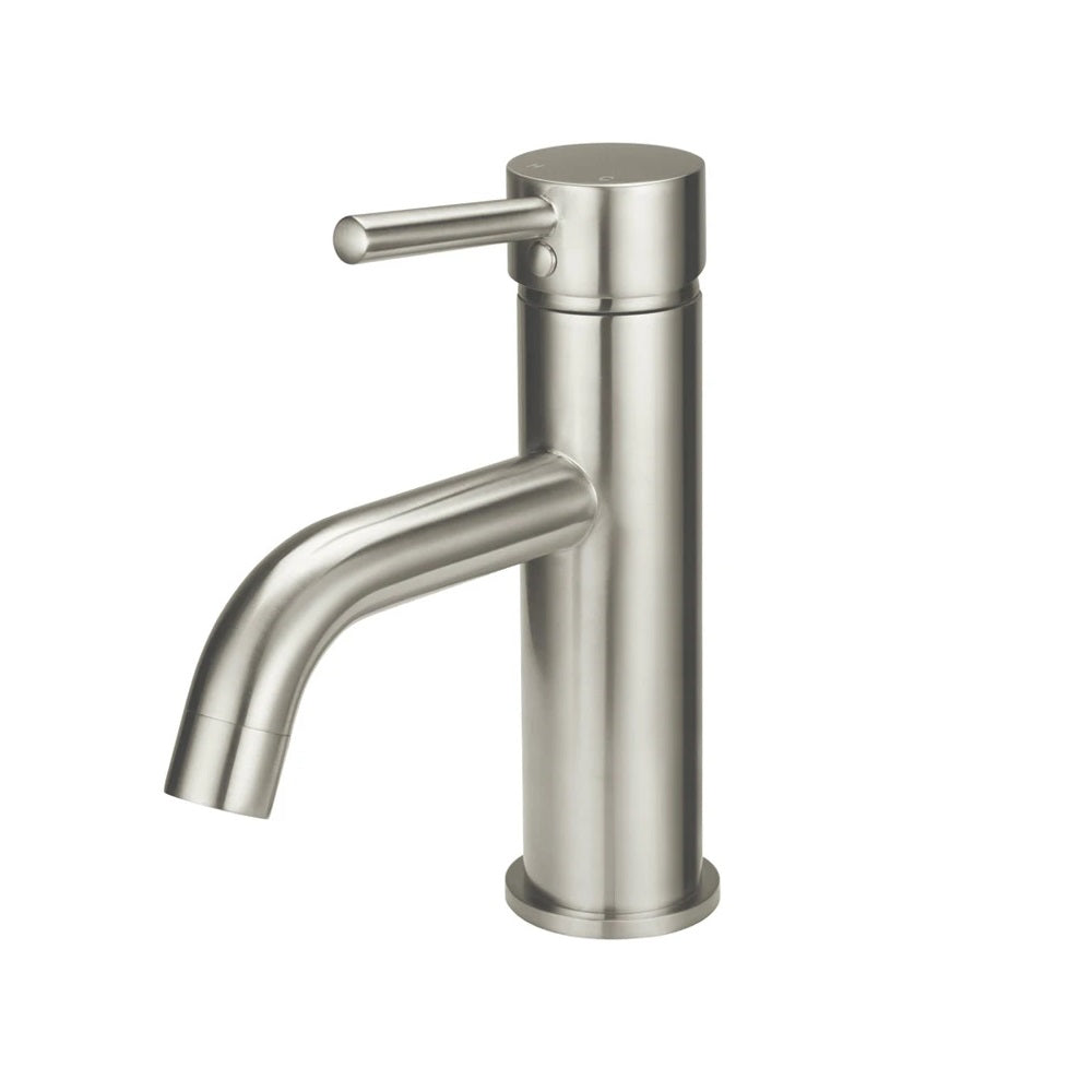 Meir Basin Mixer Round Curved - PVD Brushed Nickel MB03-PVDBN (4476080750652)