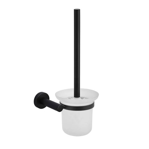 Meir Toilet Brush & Holder Round - Matte Black MTO01-R (4476082126908)