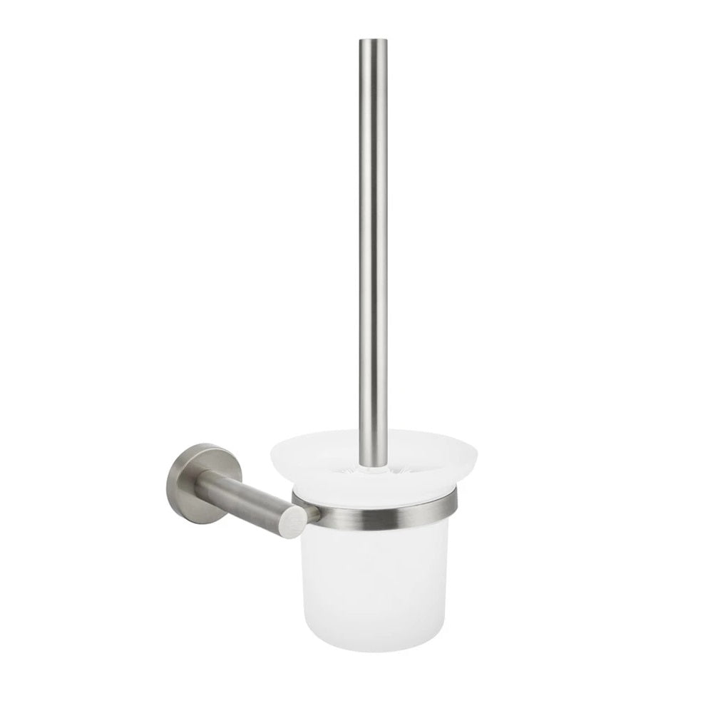 Meir Toilet Brush & Holder Round - PVD Brushed Nickel MTO01-R-PVDBN (4476082159676)