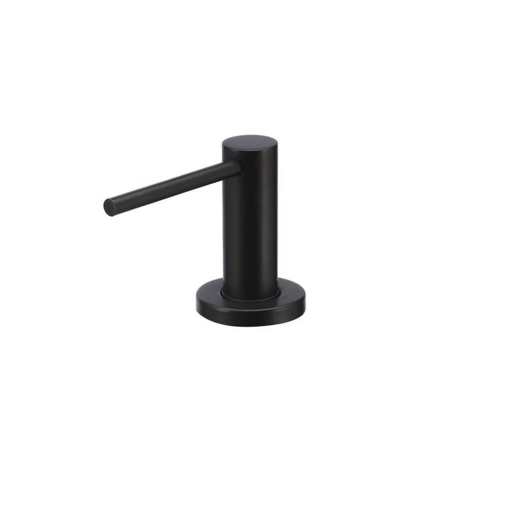 Meir Soap Dispenser Round - Matte Black MP09 (4476085567548)