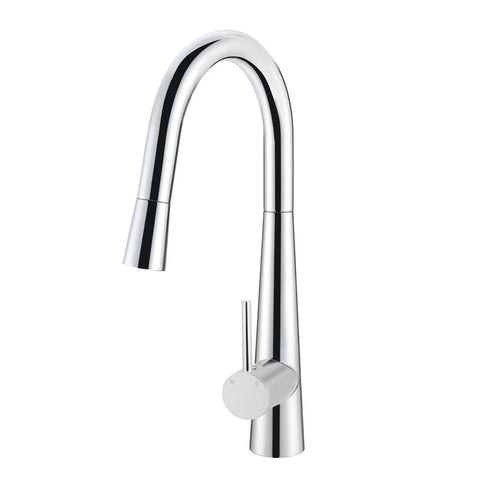 Meir Kitchen Mixer Round Pull Out Tap - Polished Chrome MK07-C (4476082716732)